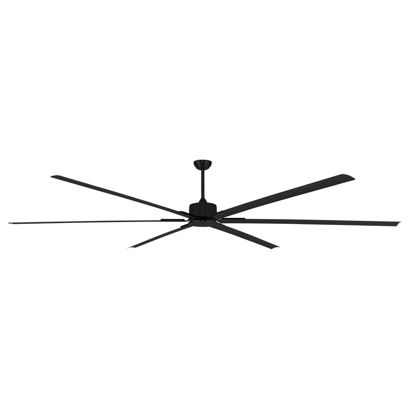 closeup of large 3m diameter fan in Black