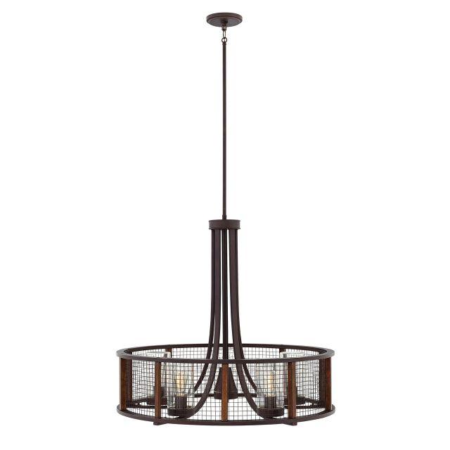 Online Lighting Store: Beckett 5 Light Pendant [29616IR] : The Lighting Centre