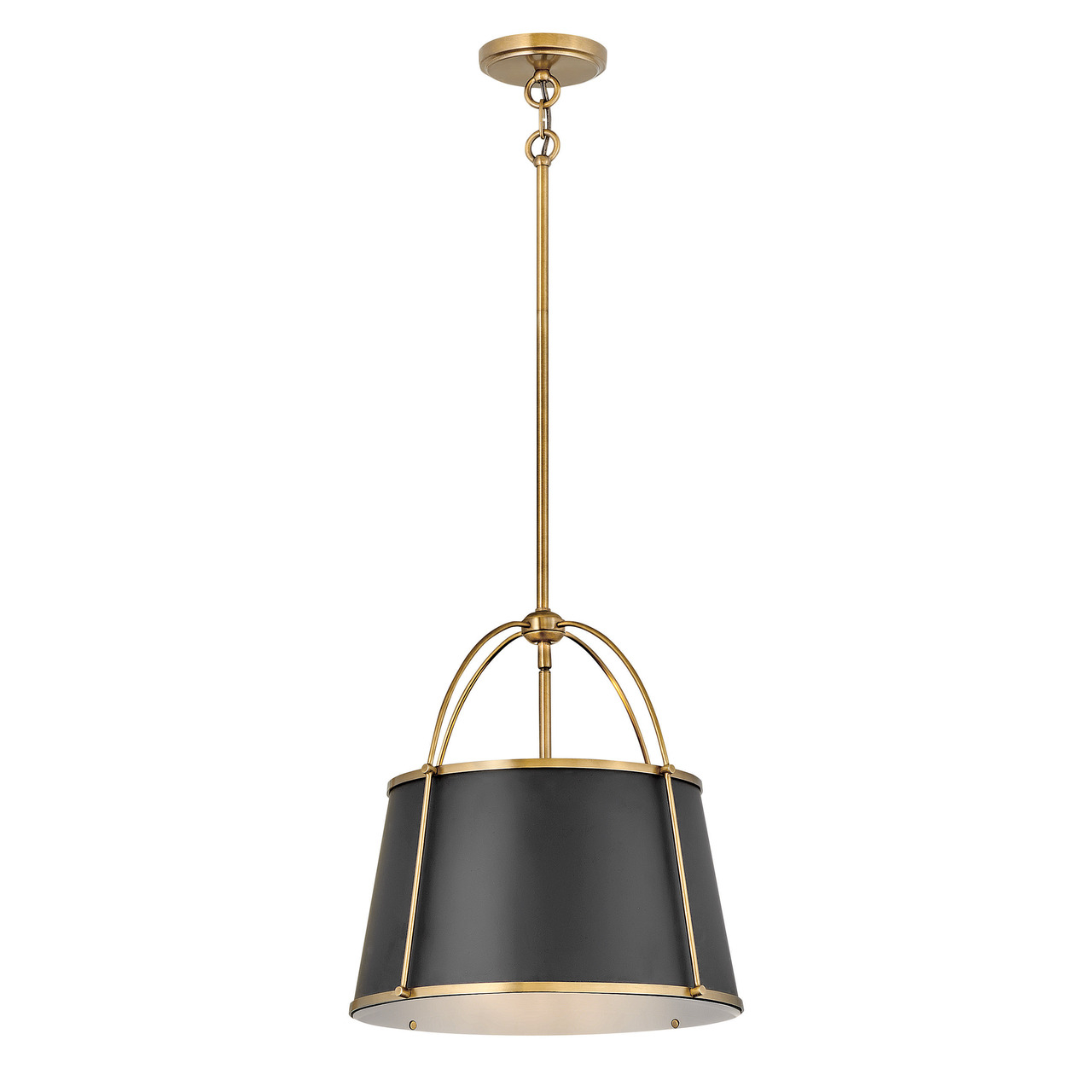 Clarke Black with Brass 410mm Pendant
