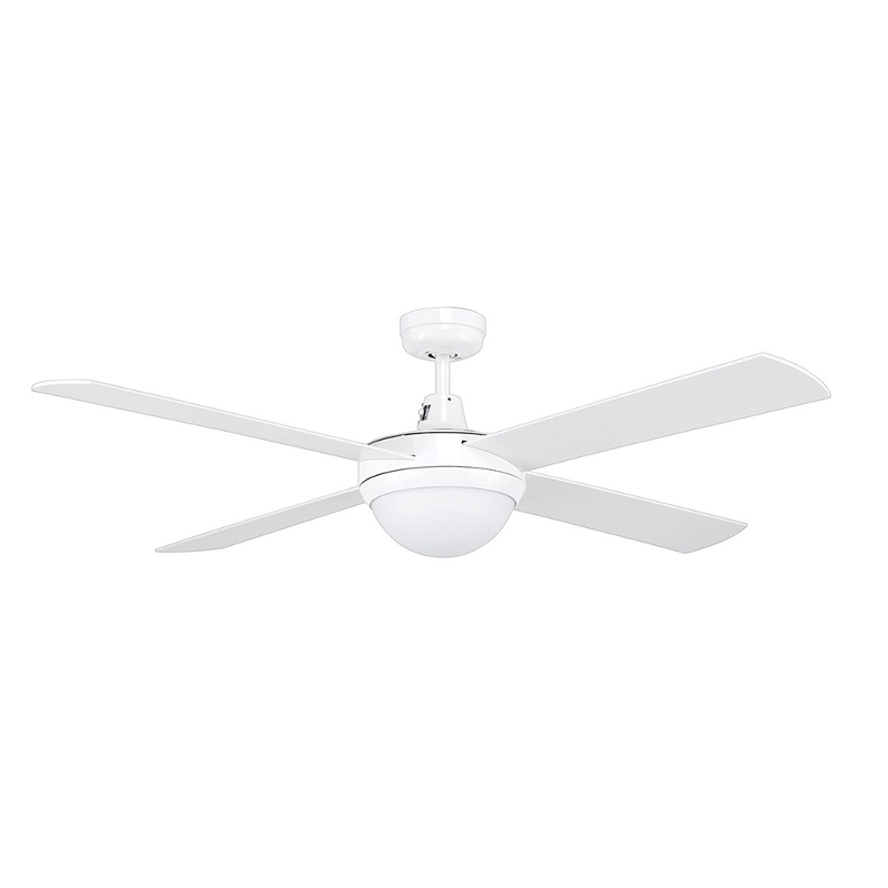 woooden bladed ceiling fan with light