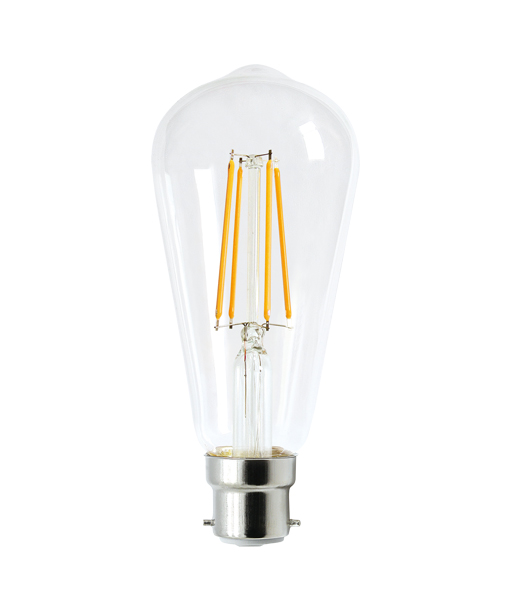 V-Shaped ST64 LED BC 8W 800lm - Dimmable
