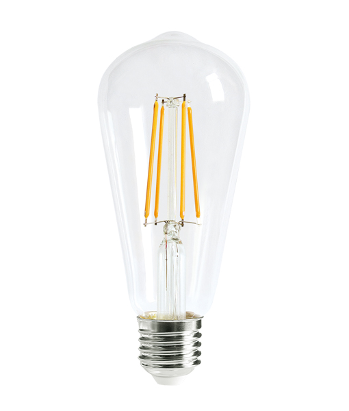 V-Shaped ST64 LED ES 8W 800lm - Dimmable