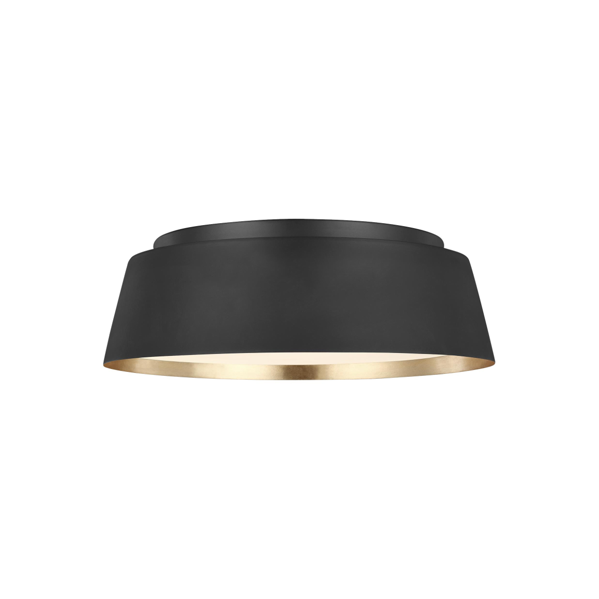 Asher black ceiling light with gold leaf inner
