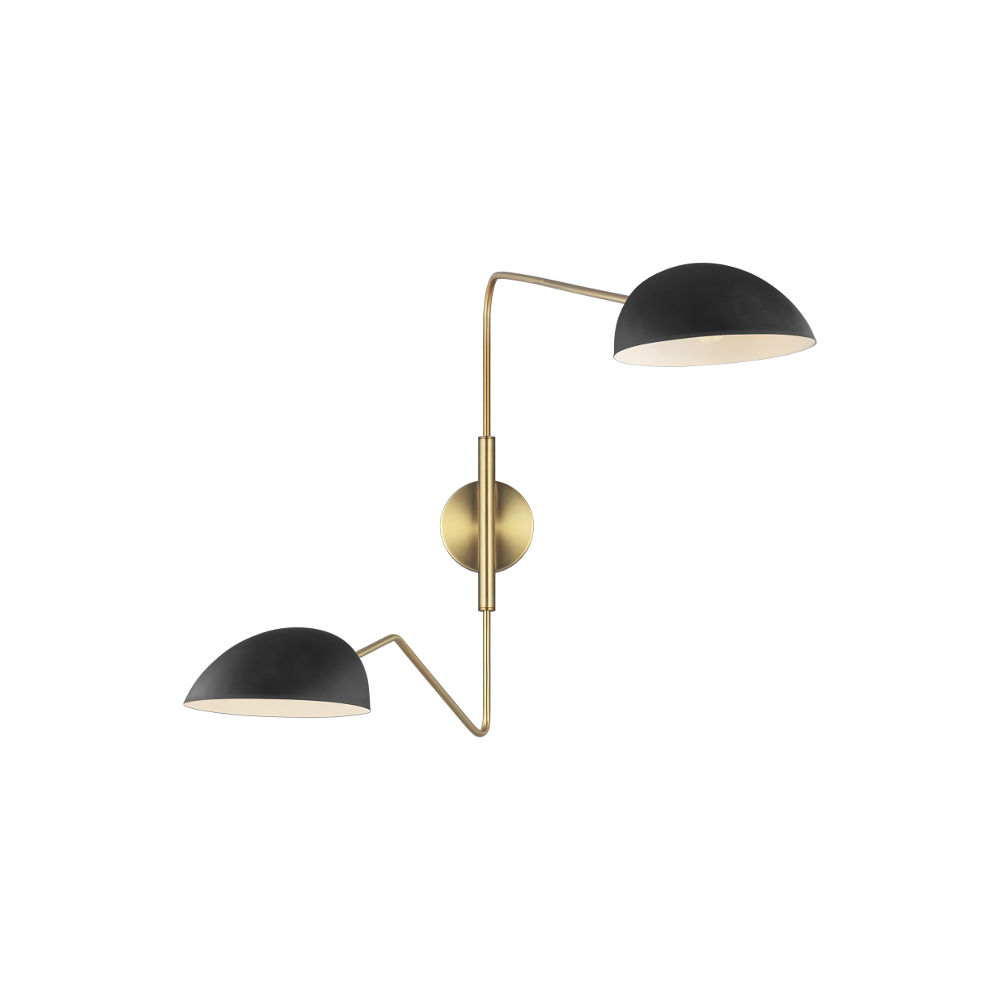 Jane Twin Wall Light Black