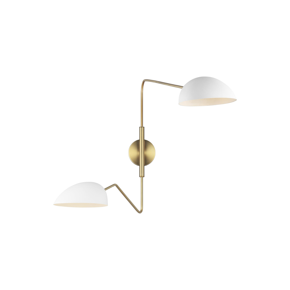 Jane Twin Wall Light White