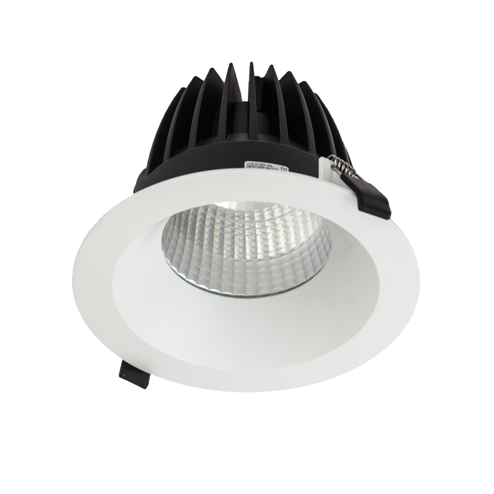 R854 Ecolight 200mm White Downlight