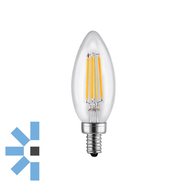 E12 Candle 4W 400lm - Dimmable