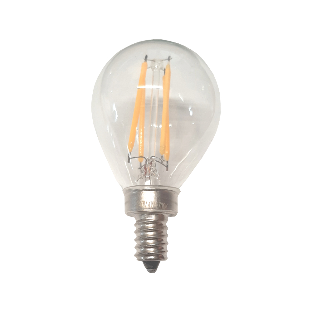 E12 Fancy Round 4W 400lm Clear - Dimmable