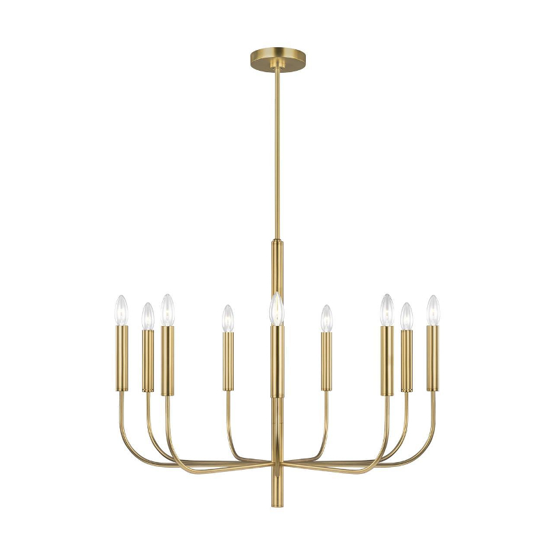 Ellen DeGeneres Brianna 9 Light Pendant in Burnished Brass