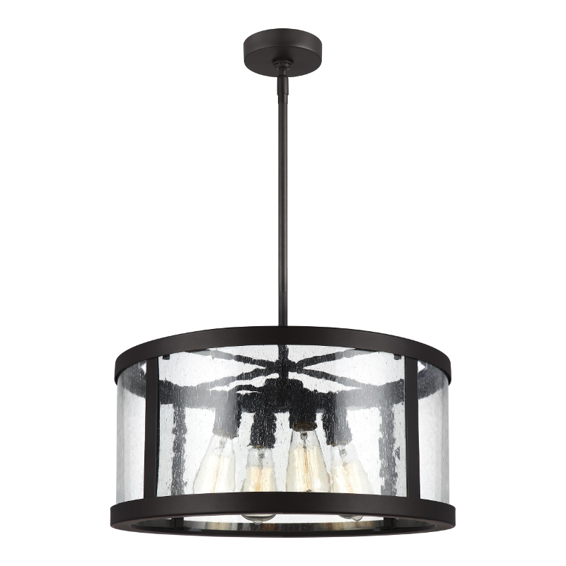 Harrow 4 Light Oil Rubbed Bronze with Clear Glass