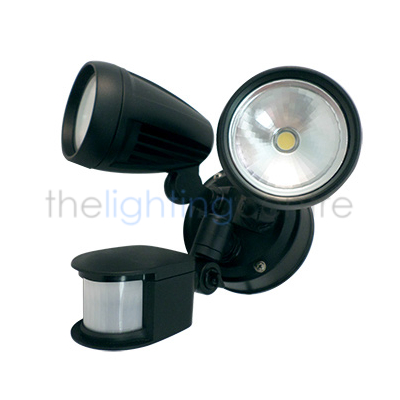 Security lighting the lighting centre online lighting store smart sense twin 8w led spot with sensor aloadofball Image collections