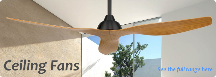 Bahama Ceiling Fan with Wood Blades