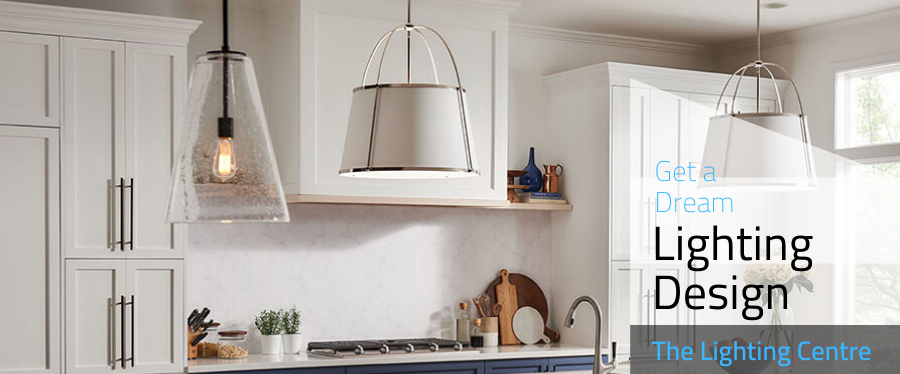 Hinkley Vance and Copper Pendants in a Kitchen
